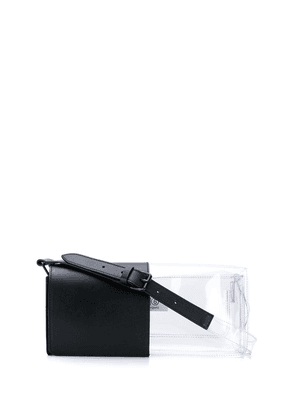 Mm6 Maison Margiela contrast PVC shoulder bag - Black