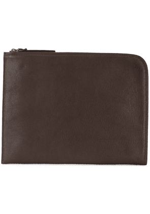 Officine Creative tablet zipped clutch - Brown