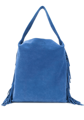 L'Autre Chose fringe shopping bag - Blue