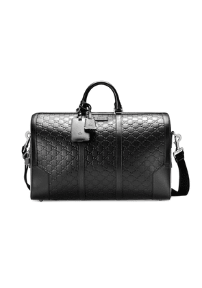 Gucci Gucci Signature leather duffle bag - Black