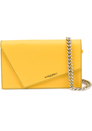 A-Cold-Wall* chain strap shoulder bag - Yellow