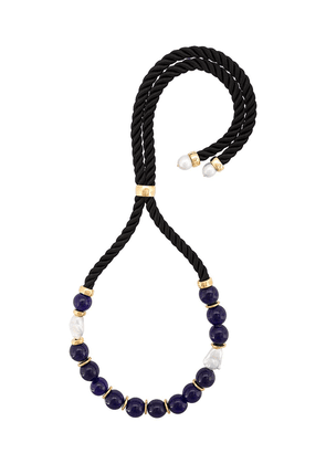 Lizzie Fortunato Jewels Riplay bead embellished necklace - Black