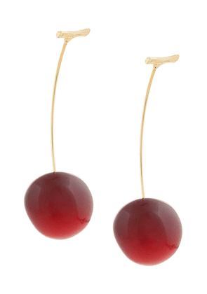 E.M. cherry pierced earrings - Pink
