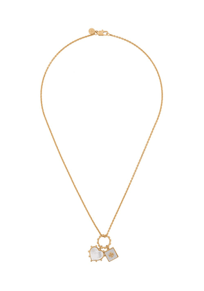 Tory Burch square and heart pendant necklace - Gold