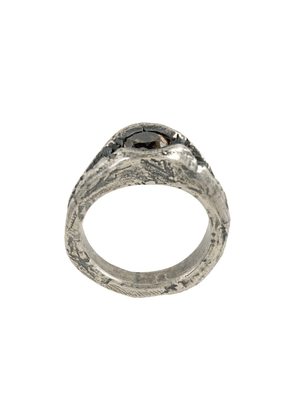 Tobias Wistisen small rift arg ring - Metallic