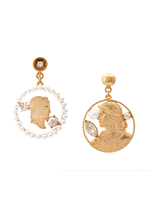 Oscar de la Renta coin earrings - Gold