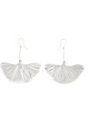 Aurelie Bidermann ginkgo earrings - Metallic