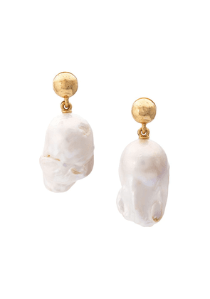 Oscar de la Renta Baroque pearl earrings - Gold