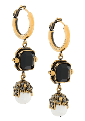Alexander McQueen embellished earrings - Metallic