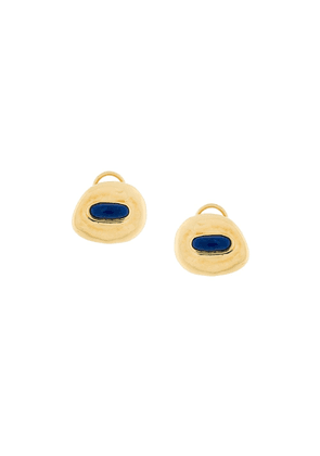 Aurelie Bidermann Peggy lapis clip-on earrings - Metallic