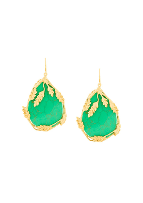 Aurelie Bidermann Francoise turquoise earrings - Green