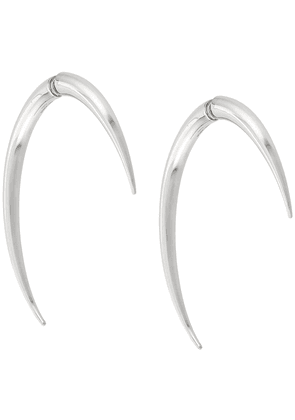 Saint Laurent Sabre tooth earrings - Silver