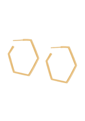 Rachel Jackson hexagon hoop earrings - Metallic