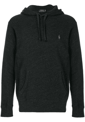 Polo Ralph Lauren logo embroidered hoodie - Black