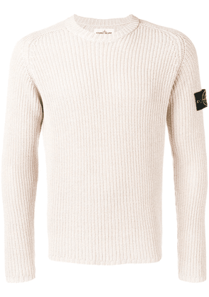 Stone Island ribbed knit sweater - Neutrals
