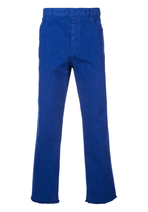 Haider Ackermann straight leg trousers - Blue