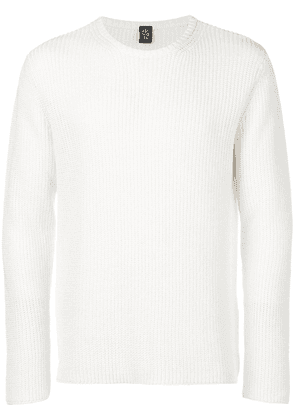 Eleventy classic fitted sweater - White