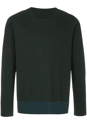 Attachment two-tone sweatshirt - Black