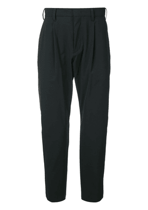 Attachment cropped tailored trousers - Black
