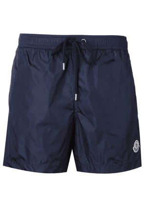 Moncler logo plaque swim shorts - Blue