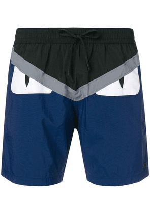 Fendi Bag Bugs logo swim shorts - Blue