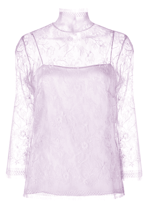 Adam Lippes layered lace top - Pink