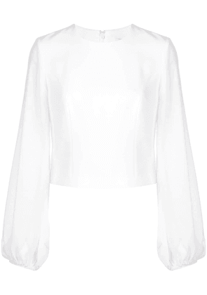 Cinq A Sept bishop sleeve blouse - White