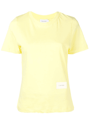 Calvin Klein logo badge T-shirt - Yellow
