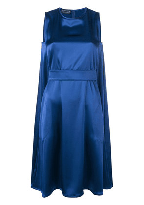 Gianluca Capannolo belted satin dress - Blue