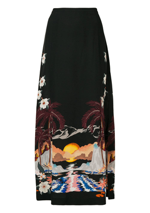 Etro sunset print maxi skirt - Black