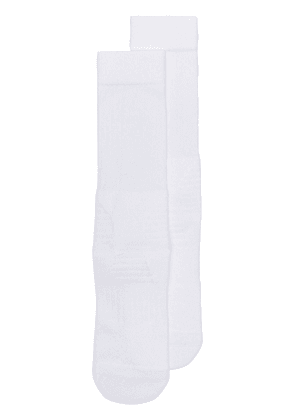 Y-3 Logo tube socks - White
