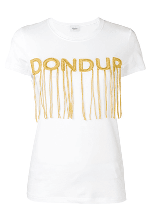 Dondup logo embroidered T-shirt - White