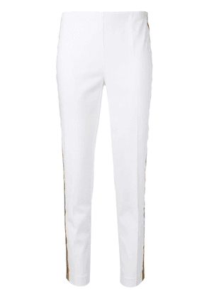 P.A.R.O.S.H. contrast side stripe trousers - White