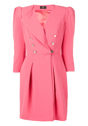 Elisabetta Franchi lapel detail fitted dress - Pink