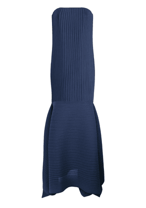Solace London micro-pleated long dress - Blue