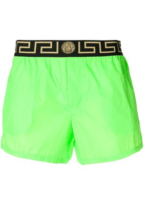 Versace Greca border swim shorts - Green