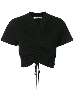T By Alexander Wang ruched crop top - Black