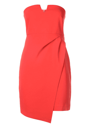 Likely bandeau wrap mini dress - Red