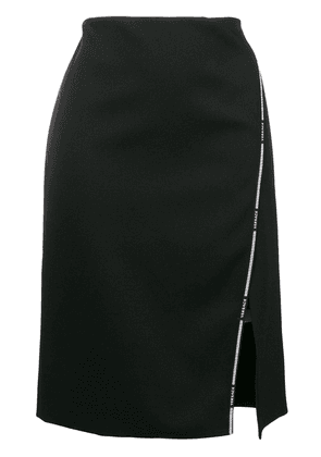 Versace Greek Key logo-trimmed skirt - Black