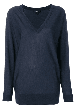 Theory navy knitted jumper - Blue