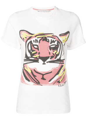 L'Autre Chose tiger T-shirt - White