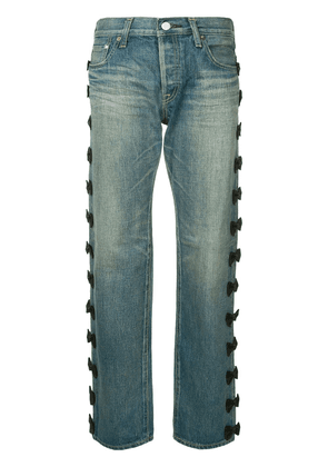 Tu es mon TRÉSOR Side ribbon jeans - Blue