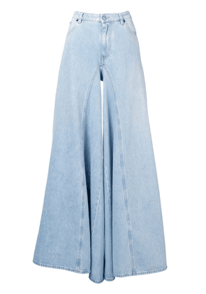 Mm6 Maison Margiela bleach denim wide leg jeans - Blue