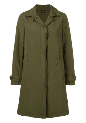Aspesi concealed front coat - Green