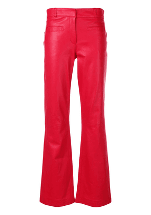 L'Autre Chose cropped flare trousers - Red