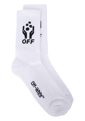 Off-White hands logo socks