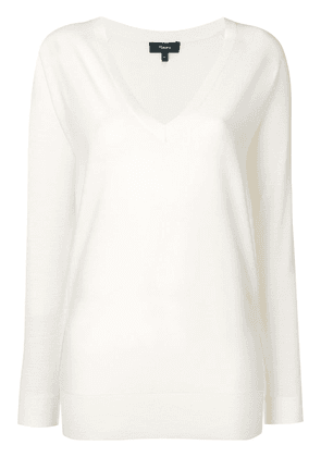 Theory merino v neck jersey - White