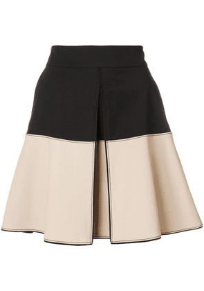 Dorothee Schumacher two tone notch front skirt - Black