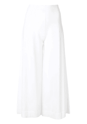 D.Exterior cropped trousers - White
