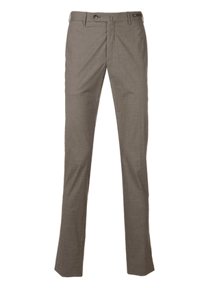 Pt01 straight leg trousers - Brown
